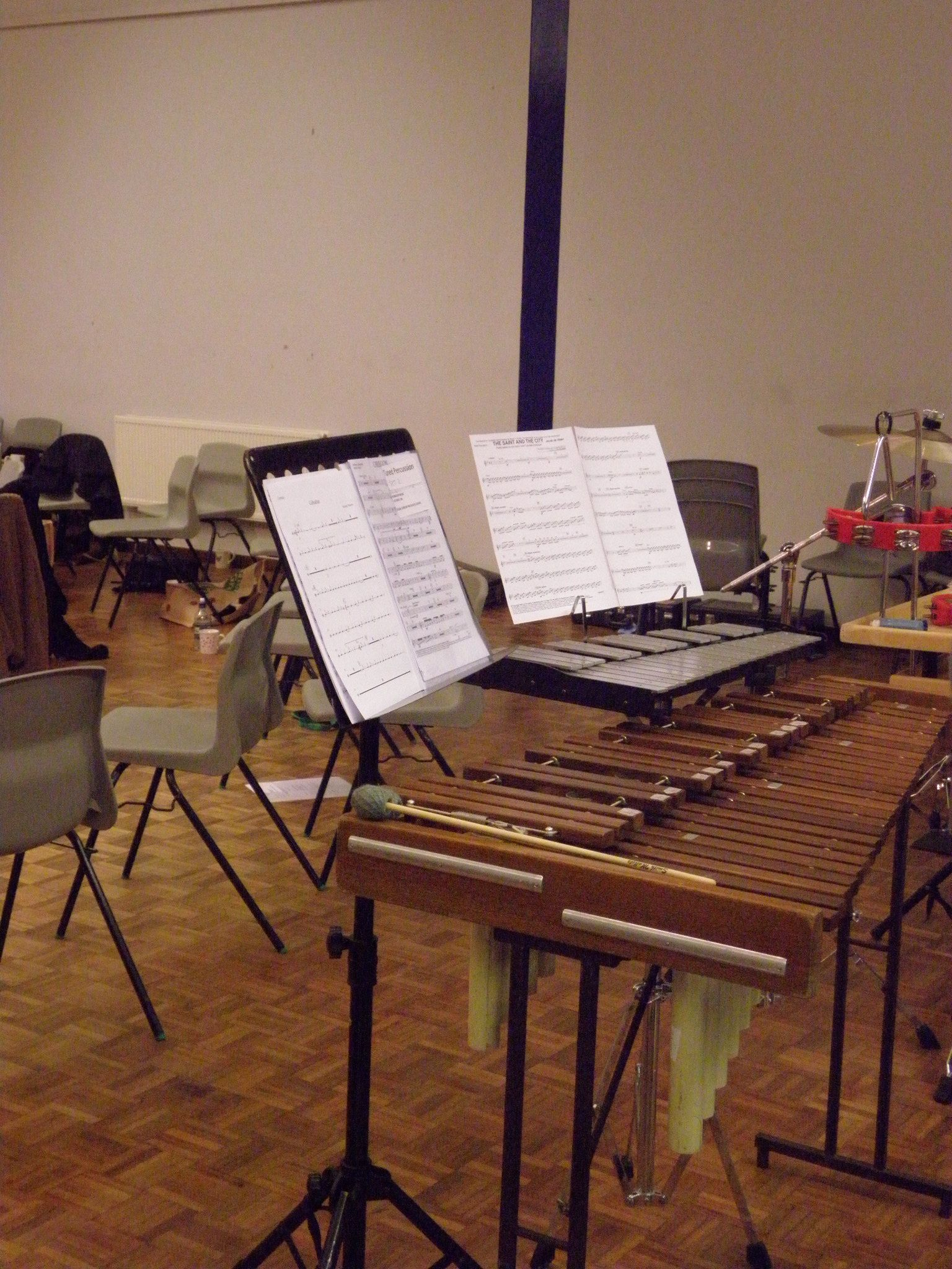 Empty seats in percussion